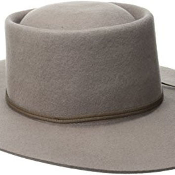 Brixton Men's Strider Fedora Hat, Taupe, Medium