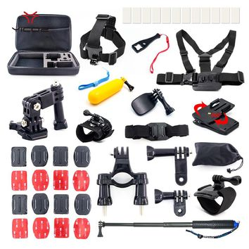Accessories Kit Lanyard Tripod Strap for Gopro Session Go pro Xiaomi Yi 4k Sony Action camera Case Lens Cover Charger for Hero 5