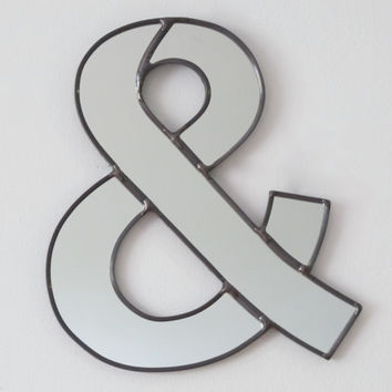 Ampersand Wall Mirror / Handmade Wall Mirror Letter