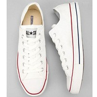 """Converse"" Stylish Women Men Casual Canvas Flats Sneakers Sport Shoes White I"