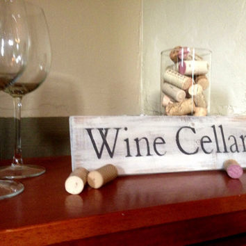 Rustic Wine Cellar Sign by GreenButtonCrafts on Etsy