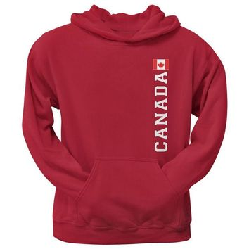 DCCKU3R World Cup Canada Red Adult Pullover Hoodie