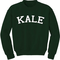 Kale Sweatshirt Pullover Jumper Sweater KALE 7/11 Video - Super Soft and Cozy - Unisex - Sexy Fun and Funny Sweatshirt - Unisex Fit