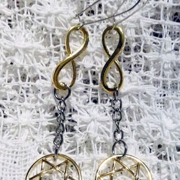 HEXAGRAM INFINITY Earrings Pierced earrings