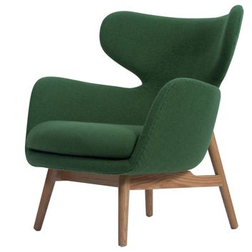 Devana Accent Chair Natural Legs, Forest Green