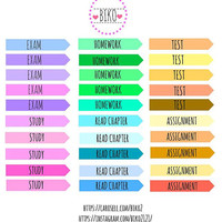 24 school planner stickers,Life planner stickers,sticker printing singapore,Perfect for Erin Condren life planner
