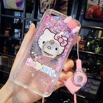 New Sweet Hello Kitty Print iPhone / 6 / 7 Case Hard Skins yey-a715