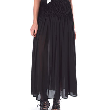 Full Of Pleats Maxi Skirt - Black