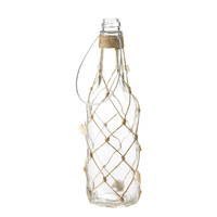 Castaway Glass Bottle With Knotted Twine