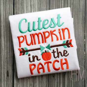 Cutest Pumpkin In The Patch Embroidered Shirt