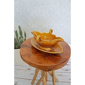 Vintage 1980s French + Gravy Boat Server