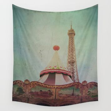 Bohemia of Paris Wall Tapestry by Victoria Herrera