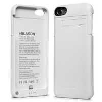 i-Blason Rechargeable Battery Slider Case with Apple 8-Pin Lightning Charging Connectors for iPod touch 5G, (White)