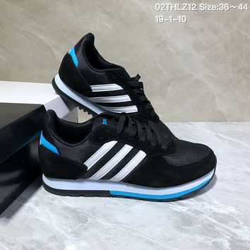 KUYOU A433 Adidas NEO 8K Suede Mesh Fashion Casual Running Shoes Black White Blue 1