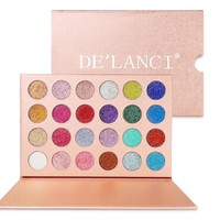 DE'LANCI 24 Colors Cosmetic Makeup Pressed Glitter Eyeshadow Pallete Brand New Diamond Glitter Foiled Eye Shadow Make up Palette