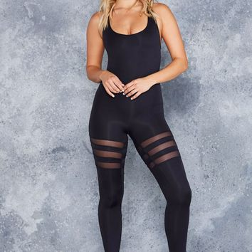 SPORTY STRIPES HEROINE CATSUIT - LIMITED