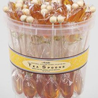 50 Individually Wrapped Clover Honey Flavored Tea Spoons