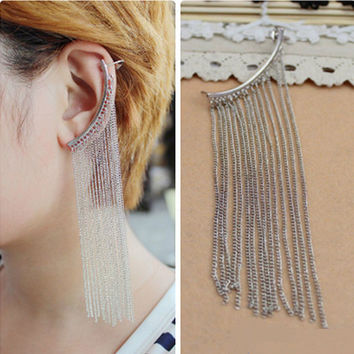Accessory Punk Tassels Earrings [8026271879]