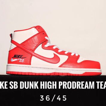 [ Free  Shipping ]Nike SB Dunk High ProDream Team Sneaker