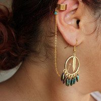 Dream Catcher Ear Cuffs,  SET OF TWO- Pocahontas - Native American Ear Cuff