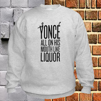 yonce beyonce sweater Sweatshirt Crewneck Men or Women Unisex Size