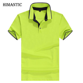Men Fashion Slim Solid Collar Shirts Short Sleeve Casual Polo Men Clothing