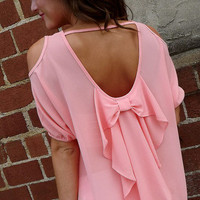 Cold Shoulder Bow Top | The Rage