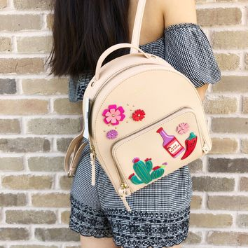 Kate Spade Cactus Tomi New Horizons Cashew Leather Small Backpack