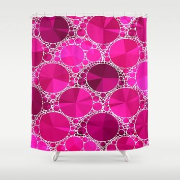 Hot Pink  Bling Pattern  Shower Curtain by Amy Anderson