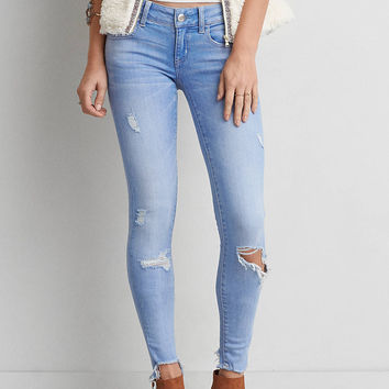 AEO Denim X Cafe Super Low Jegging, Busted Bright