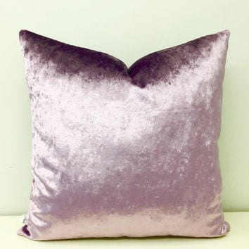 Lilac Velvet Pillow Covers, Lilac Purple Pillow, Velvet Pillow, Velvet Cushion, Throw Pillows, Purple Cushion, Lilac Velvet Pillow Covers