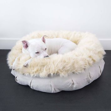Faux Fur Shag Puff® Orthopedic Luxury Dog Bed