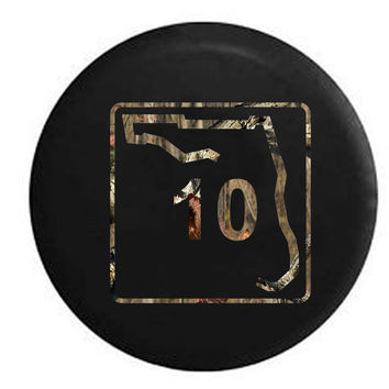 Florida State Highway Route 10 Scenic Sign RV Camper Jeep Spare Tire Cover