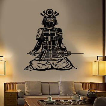 Vinyl Wall Decal Asian Samurai Japanese Warrior Style Costume Catana Sword Stickers Unique Gift (1974ig)