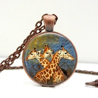 Giraffe Necklace: Gift for Her. Jewelry. Handmade. Necklace. Pendant