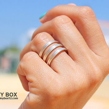 Double Wire Wrapped Silver Ring - Silver ring - Wide Band Ring, Adjustable Ring, Tube ring, Statement Ring, Stack Ring, Unisex Ring