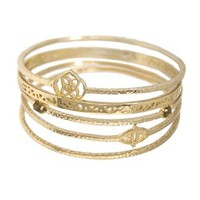 Jordana Bangle Bracelets in Gold - Kendra Scott Jewelry