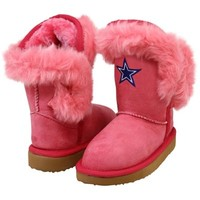 Cuce Dallas Cowboys Toddler Girls Mini-Me Fanatic Boots - Pink