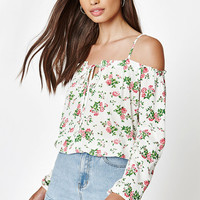 Kendall & Kylie Keyhole Off-The-Shoulder Top at PacSun.com