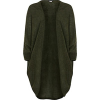 River Island Girls khaki draped cardigan