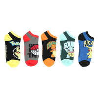 Pokemon Starters No-Show Socks 5 Pair
