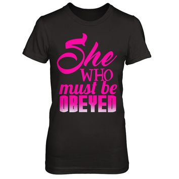 She Who Must Be Obeyed - Managers - Shirts