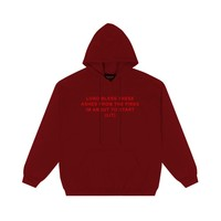 Lit Pullover in Cardinal Red