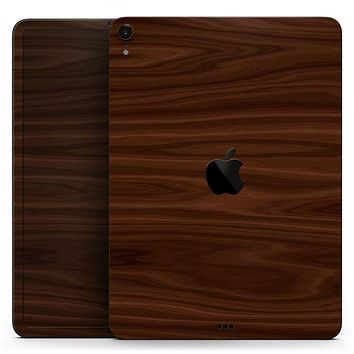 "Dark Brown Wood Grain - Full Body Skin Decal for the Apple iPad Pro 12.9"", 11"", 10.5"", 9.7"", Air or Mini (All Models Available)"