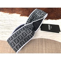 FENDI Fashionable Retro F Letter Jacquard Sport Headwrap Headband Head Hair Band