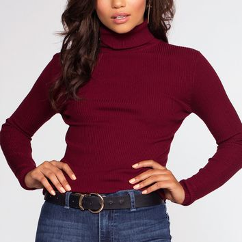 Charleston Turtleneck - Burgundy