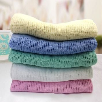 Baby Cotton knitting Blankets for Babies High Quality Cotton Baby Bathing Wraps Children's Rug Infant Swaddle Blankets Mantas