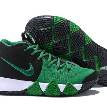 Nike Men's Kyrie Irving 4 Black/Green Basketball Shoes US7-12