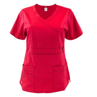 Red Women's Scrub Top