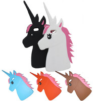 The Unicorn Littlt Horse Head Silicon Phone case cover for apple Iphone 5S 5G 5 5C Protective shell
